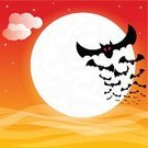 Bat - Animal,Halloween,Moon,Black Color,White,Night,Full Moon,Sky,Moonlight,Holiday,Ilustration,Vampire,Celebration,Evil,Witchcraft,Spooky,Vector,Wing,Full,Red,Silhouette,Star - Space,October,Dark,Star Shape,Fear,Horror,Flying,Backgrounds,Mystery,Cartoon
