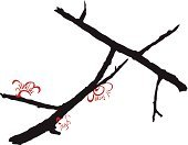 Tree,Calligraphy,Tranquil Scene,Red,Cultures,Japan,Styles,Buddhism,Computer Graphic,Leaf,Backgrounds,shue,Painted Image,Vector,Single Flower,Symbol,Clip Art,Art,Zen-like,Silhouette,Ilustration,White,Chinese Culture,Back Lit,Luck,Focus on Shadow,Serene People,Feng,Plum,Branch,Illustrations And Vector Art,East Asian Culture,Korean Culture,Winter,shui,Flower,Shadow,Binder Clip