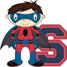 Strength,Glove,Fun,Education,Brown Hair,superboy,Boot,Teaching,Computer Graphic,Cape,Cartoon,webbing,Belt,Cute,Flying,Smiling,Clip Art,Crime Fighter,One Person,Learning,Heroes,Mask,Power,Spider Web,Digitally Generated Image,Characters,Funky,Superhero,Disguise,Alphabet,Letter S,Vector,Ilustration,Suit