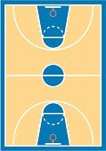 Basketball Court,Vector,Basketball - Sport,Clip Art,Stadium,Ilustration,Color Image