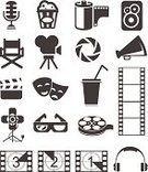 Movie Theater,Movie,Computer Icon,Symbol,Film Industry,Stage Theater,Theatrical Performance,Film,Director's Chair,Camera Film,Silhouette,Recorder,Drink,Video,Amplifier,Button,Set,Headset,Countdown,White,Projector Light,Electric Lamp,Cutting,Web Page,Lighting Equipment,Eyeglasses,Multimedia,Microphone,Internet,The Media,Film Reel,Isolated,Collection,Chair,Popcorn,3-D Glasses,Projection Equipment,Refreshment,Mask,Interface Icons,Stage Set,Photography Themes,Camera - Photographic Equipment,Photography