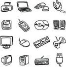 Sketch,Technology,Computer,Set,Computer Mouse,Cartoon,CD-ROM,Floppy Disk,Black Color,Art,Black And White,Drawing - Activity,Icon Set,Design,Isolated,Personal Accessory,CPU,Computer Part,Computer Printer,Electric Plug,Joystick,Group of Objects,Disk,Collection,Memories,Cable,Communication,PC,Paper,Ilustration,USB Flash Drive,equipments,Case,Network Connection Plug,Computer Monitor,Computer Equipment,Drawing - Art Product,Computer Keyboard,Vector,Electrical Equipment,White Background,USB Cable,Laptop,Connection,Digital Display