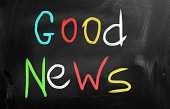 Good News,Blackboard,Positive Emotion,White Chalk,Colors,announce,Communication,Single Word,Receiving,Success,Multi Colored