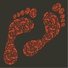 Footprint,Track,Walking,People,Barefoot,Shoe Print,Vector,Anatomy,Men,Shoes Silhouette,Ilustration,Sole Prints,footmarks,Symbol,Boot,Shoe,Ink,Identity,Computer Graphic,Collection
