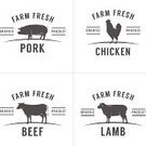 Cow,Farm,Chicken - Bird,Chicken,Butcher's Shop,Beef,Silhouette,Label,Pig,Back Lit,Sign,Meat,Retro Revival,Symbol,Computer Icon,Old-fashioned,Menu,Lamb,Lamb,Nutrition Label,Badge,Restaurant,Organic,Industry,Computer Graphic,Pork,Vector,Freshness,Food,Bird,butchery,Seal - Stamp,Agriculture,Steak,Bacon,Black And White,White Meat,Cattle,Poultry,Outline,1940-1980 Retro-Styled Imagery,Rubber Stamp,Raw Food,Nature,Ham,Set,Ingredient,Merchandise,Monochrome,Isolated,Mutton