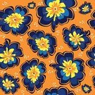 No People,Floral Pattern,Ilustration,Blossom,Vector,Single Flower,Seamless,Spring - Flowing Water,Flower Head,Backdrop,Petal,Primrose,Orange Color,Blue,Summer,Wallpaper,White,Yellow,Primula,Flower Bed,Wrapping Paper,Backgrounds,Wallpaper Pattern