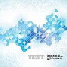Mosaic,Light - Natural Phenomenon,Halftone Pattern,Blue,Backgrounds,Vector,Abstract