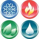 Heat - Temperature,Cold - Termperature,Symbol,Flame,Water,Religious Icon,Fire - Natural Phenomenon,Computer Icon,The Four Elements,Sign,Drop,Circle,Weather,Vector,Snow,Nature,Snowflake,Computer Graphic,Shiny,Leaf,Simplicity,Sparse,gradation,Clip Art,Ilustration,Hill,Design,Illustrations And Vector Art,Objects/Equipment