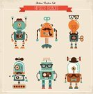 Robot,Astronaut,Space,Toy,Mascot,Cute,Pattern,Machinery,Mustache,Web Page,Fashion,Vector,Science,Cyborg,Clip Art,Computer Software,Cheerful,Futuristic,Multi Colored,Prehistoric Man,Technology,Imagination,Wheel,Collection,Computer Graphic,Ilustration