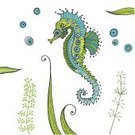 Animal,Sea Horse,Sea,Summer,Vacations,Blue,Seafood,Backgrounds,Nature,Wildlife,Abstract,Vector,Remote,Ilustration,Scrapbook,Computer Graphic
