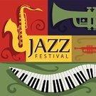 Jazz,Musical Instrument,Poster,Music,Saxophone,Trumpet,Popular Music Concert,Equipment,Piano,Music Festival,Art,Event,Vector,Backgrounds,Multi Colored,Elegance,Design,saxiphone,Colors,Book Cover,Page,Abstract,Simplicity