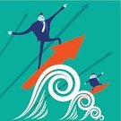 Teamwork,Surfing,Innovation,Growth,Wave,Wave Pattern,Businessman,Arrow Symbol,Cartoon,Cooperation,Partnership,Friendship,Male,Ideas,Creativity,Smiley Face,Ilustration,Go - Single Word,Human Hand,Orange Color,Competitive Sport,People,Men,Vector,Competition,Success,Balance,Fun,Pointing,Standing,Concepts,grow up,Smiling,Blue,Suit,Imagination,Togetherness,Business,Human Head,Positive Emotion,Moving Up,Working,Rivalry,Strength,Occupation