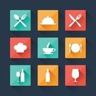 Plate,Symbol,Flat,Restaurant,Fork,Spoon,Lunch,Square Shape,Interface Icons,Design,Application Software,Technology,Chef,Alcohol,Retro Revival,Computer Software,Drink,Funky,Single Object,Bottle,Food,Cup,Information Medium,Service,Menu,Design Element,Tea - Hot Drink,Commercial Sign,Marketing,Cooking,Crockery,Data,Hat,Table Knife,Business,Set,Sign,Collection,Coffee - Drink,Web Page,Dinner,Vector
