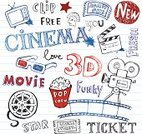 Doodle,Movie Theater,Movie,Entertainment,Camera Film,Television Set,Industry,Fun,Computer Icon,Ticket,Video,Popcorn,Film Slate,Corn,Paper,Star Shape,Professional Occupation,Symbol,Equipment,Retro Revival,Multimedia,Slate,Ticket Counter,Vector,Design Element,Eyeglasses,White,Old,Sign,Design,Set,Action,Camera - Photographic Equipment,Isolated,Ilustration,Three Dimensional,Cinematographer,Media - Pennsylvania