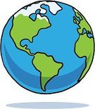 Globe - Man Made Object,Earth,Planet - Space,Cartoon,Vector,Ilustration,North America,Sparse,White Background,Clip Art