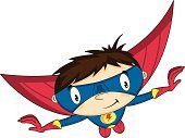 Flying,Heroes,Superhero,Glove,Mask,Fun,Power,One Person,superboy,Suit,Clip Art,Crime Fighter,Smiling,Boot,Comic Book,Funky,Characters,Strength,Brown Hair,Vector,Ilustration,Cape,Cartoon,Disguise,Cute