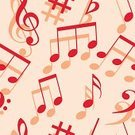 Seamless,Wallpaper Pattern,Symbol,Musical Note,Ilustration,Music,Vector