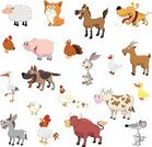 Animal,Vector,Horse,German Shepherd,Dog,Sheep,Pig,Bull - Animal,Farm,Donkey,Bird,Cow,Humor,Ilustration,Rooster,Collection,Stork,Nature,Hare