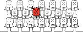 Devil,Business,Rudeness,Men,Foreign Object,Drawing - Art Product,People,Damaged,Hypocrisie,Red,Evil Spirit,Team,Single Line,Sneering,Businessman,Characters,Two Faced,White Background,All People,Concepts,Evil,Black Color,White,Horned,intruders,Noir Fashion,Hypocrisy,Humor,Individuality,Demon,Group Of People,Cartoon,Rebellion,Mischief,Mauvais Esprit