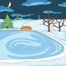 Ice-skating,Pond,Lake,Activity,Canada,Outdoors,Winter,Snow,Ice,Nature,Tree,Cultures,Vector,Snowflake,Christmas,Ilustration,Fun,North,Enjoyment,Sport