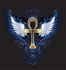 Egypt,Ankh,Religion,Symbol,Ideas,Drawing - Art Product,Jewelry,Vector,Posing,Glowing,Painted Image,Ilustration,dark background,White Wings,Outline,Wing,Decoration,Metal,Dark,Fantasy,Pattern,eternal life,Egyptian Cross,Allegory Painting,Gold,Concepts,Eternity,Creativity,Mystery,Spirituality,Gothic Style