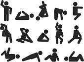 Action,Symbol,People,Activity,Exercising,The Human Body,Relaxation Exercise,Sport,Motion,Sports Training,Cartoon,Touching,Fun,Male,Gym,Athlete,Vector,Healthy Lifestyle,Lifestyles,Human Muscle,Occupation,Silhouette,Yoga,Cultures,Concentration,Black Color,Strength