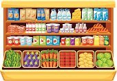 Supermarket,Market,Shelf,Pasta,Vegetable,Yogurt,Granola,Checkout,Cheese,Bottle,Cabbage,Retail,Store,Milk,Milk Bottle,Full,Variation,Packing,Eating,Buying,Indoors,Ingredient,Raw Potato,Ilustration,Watermelon,Home Showcase Interior,Drink,Breakfast Cereal,Carrot,Choice,Prepared Potato,Vector,Meal,Sale,Box - Container,Marketing,In A Row,Tomato,Juice,Storage Room,Food,Cream,Equipment,Eggplant