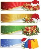 Christmas,Icon Set,Gift,Clip Art,Color Image,Ilustration,Vector,Santa Hat