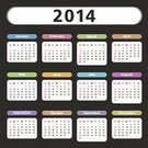 Calendar,2014,Summer,Springtime,Winter,Equipment,template,Illustrations And Vector Art,Isolated,Year,Autumn,Colors,Vector,Frame,2014 Year,Calendar Date,Group of Objects,Computer Icon,Month,Day