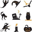 Domestic Cat,Vector,Black Color,Ilustration,Horror,Spooky,Lantern,Ghost,Holiday,Magic,White Background,Broom,Witch,Eagle Owl,Candle,Style,Flame,Light - Natural Phenomenon,Bat - Animal,Cross,Hat,Moon,Cemetery,Fear,Tombstone,Pumpkin,Set,Halloween,Flying,Computer Icon,Fire - Natural Phenomenon,jack-o'-lantern,Owl,Orange Color,Fun,Isolated