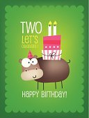 2-3 Years,Invitation,Holiday,Cake,Birthday,Greeting Card,Old-fashioned,Love,Candle,Sign,Painted Image,Number 2,New Life,Day,Cheerful,Text,Ornate,Abstract,Cupcake,Cartoon,Color Image,template,Calendar Date,Computer Graphic,Backgrounds,Greeting,Hippopotamus,Decoration,Pattern,Gift,Celebration,Typescript,Ilustration,Animal,Design,Humor,Number,Characters,Picture Frame,Fun,Hat,Party - Social Event,Happiness,Design Element,Vector