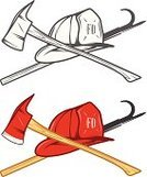 Firefighter,Equipment,Sign,Symbol,Axe,Protection,Computer Icon,Fire - Natural Phenomenon,Old-fashioned,Retro Revival,Work Tool,Work Helmet,Red,Wood - Material,Yellow,Security,Pike Pole,Alertness,Danger,Shiny,White,Protective Workwear,Cross Shape,Isolated,Black Color,Steel,Pole,Occupation,Black And White,Seal - Stamp,Heroes,Emergency Services,Vector,1940-1980 Retro-Styled Imagery,Hat,Safety,Rescue,Monochrome,Hatchet,Badge,Crossing,Office Interior,Rubber Stamp,Shot Glass,Beak,Warning Symbol