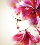 Computer Graphics,People,Image,Creativity,Human Body Part,Human Head,Human Face,Human Hair,Hairstyle,Design,Looking,Red,Modern,Flower,Leaf,Backgrounds,Beauty,Computer Graphic,Adult,Art Product,Watercolor Painting,Fine Art Portrait,Illustration,Beauty In Nature,Women,Portrait,Vector,Fashion,Blob,Adults Only,Beautiful People,Background,Beautiful Woman,Design Element,Fashionable
