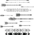 Feather,Black And White,Design Element,Set,Design,Ornate,Vector,Tattoo
