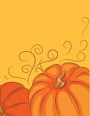 Pumpkin,Corner,Autumn,Multi Colored,Squash - Vegetable,Pattern,Vector,Vibrant Color,Ilustration,Swirl