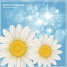 Flower Head,Shiny,Day,Summer,Sun,Blue,Freshness,Ilustration,Heaven,Abstract,Daisy,Backgrounds,Vector
