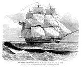 Sea Monster,Woodcut,Water,Retro Revival,Sea,History,Victorian Style,Speculative Being,Wildlife,Royal Navy,Old-fashioned,British Military,Historical Ship,Hms Daedalus,Animal Themes,Sailing Ship,Sea Life,Navy,19th Century Style,Old,Ilustration,Mythology,Engraved Image,Antique,daedalus,Image Created 19th Century,Print,The Past,Black And White,Styles,Military,Monster,Mode of Transport