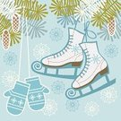 Ice Skate,Winter Sport,Mitten,Christmas,Ice Rink,Snow,Retro Revival,Color Image,Cute,Pine Tree,Branch Of Fir Tree,Figure Skating,Computer Graphic,Winter,Frost,Clip Art,Ornate,Old-fashioned,Elegance,Backgrounds,Ilustration,Pine Cone,Blue,Season,Snowflake,Design Element,Simplicity,Ice Dancing,Snowing,Swirl,No People,Vector,Scroll Shape