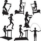 Gym,Silhouette,Treadmill,Exercise Equipment,Health Club,Vector,Exercise Machine,Women,Running,Exercise Bike,Back Lit,People,Jogging,Jump Rope,Female,Cartoon,Ilustration,Isolated On White,Large Group of Objects,Outline,Clip Art,Design,Sketch,Digitally Generated Image,Isolated,Black Color,White Background,Adult,Cut Out,Collection,Exercise,Digital Composite,Beauty And Health,Design Element,Recumbent Bike,Illustrations And Vector Art