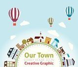 Urban Scene,City,Infographic,House,Home Interior,Country - Geographic Area,Sign,Symbol,Hot Air Balloon,Globe - Man Made Object,Earth,Computer Icon,Residential Structure,Built Structure,Small,Retro Revival,Tree,Abstract,Church,Building Exterior,Town,Construction Industry,Architecture,Backgrounds,Cloud - Sky,Design,Apartment,Ilustration,Banner,Shape,Poster,Tower,Space,Vector,Placard,Balloon,Summer,Wallpaper Pattern,Label,Sky,Decoration,Design Element