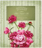 Peony,Ilustration,Abstract,Ornate,Vignette,Vector,holiday greetings,Decoration,Leaf,Invitation,Petal,Greeting,Pattern,Nature,Summer,Decor,Pink Color,Elegance,Backgrounds,Creativity,Romance,Chrysanthemum