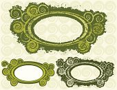Frame,Spiral,Circle,Green Color,Computer Graphic,Backgrounds,curlicue,Eroded,Grunge,Dirty,Messy,Curled Up,Decoration,Illustrations And Vector Art,Ornate,Design,Objects/Equipment,flourishes,Vector,Ilustration,Swirl,Abstract