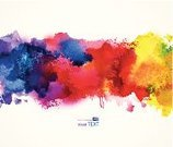 Watercolor Painting,Backgrounds,Abstract,Paint,Banner,Creativity,Painted Image,Textured,Computer Graphic,Blue,Stained,Blob,Splattered,Bright,Drop,Vector,Red,Poster,Pink Color,Ilustration,Drawing - Art Product,Spark,Gouache,Design,Design Element,Liquid,Image