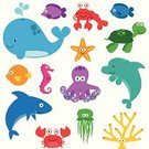 Fish,Sea Life,Whale,Cute,Sea Life Centre,Dolphin,Cartoon,Crab,Vector,Lobster,Shark,Turtle,Coral,Sea Turtle,Saltwater Fish,Sea,Sea Horse,Ilustration,Underwater,Octopus,Collection,Narwhal,Starfish,Puffer Fish,Killer Whale,Beach,Balloonfish,Life,Jellyfish,Water,Education,Animal,Vibrant Color,Characters,Plant,Crayfish,Multi Colored,Swimming Animal,Star Shape,Isolated