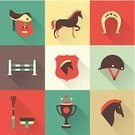 Horse,Jockey,Symbol,Dressage,Hat,Saddle,Trophy,Animal,Farm,Vector,Connection,Shoe,UI,Sport,Stallion,wip,Badge,Cute