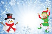 Elf,Christmas,Snowman,Banner,Frame,Backgrounds,Cute,Greeting Card,Comic Book,Smiling,Cartoon,Fairy,Cheerful,Snow,Gnome,Season,Ornate,Blue,Assistance,Snowflake,Holiday,Vector,Men,Celebration,Ilustration,Backdrop,Greeting,Decoration,Christmas Elf,Winter,Small,Happiness,Dwarf