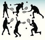 Tennis,Silhouette,Sport,Vector,Ball,Symbol,Professional Sport,Playing,Racket,Back Lit,Tennis Ball,Religious Icon,Women,Computer Icon,People,Little Girls,Teenager,Men,Serving,Little Boys,Team,Ilustration,Play,Athlete,Black Color,Exercising,Expertise,Group of Objects,Sports Team,Hitting,Youth Culture,Volleying,Professional Occupation,Teamwork,Muscular Build,Group Of People,Illustrations And Vector Art,People,creative element,Design,Creativity,handcarves