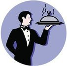 Waiter,Wait Staff,Dining,Restaurant,Religious Icon,Tuxedo,Symbol,Elegance,Food,International Landmark,Cafe,Men,Vector,Formalwear,Computer Icon,Ilustration,Assistance,Well-dressed,Architecture And Buildings,Dressing Up,Dating