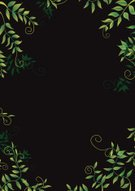 Night,Flower Bed,Ornamental Garden,leafy,Rubber Tree,Frame,Leaf,Summer,Springtime,Backgrounds,Black Color,Tree,Nature,botanic,Dark,Floral Pattern,Bush,Pattern,Green Color,Copse,Branch,Vector,Plant