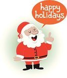 Speech Bubble,Christmas,Text,Santa Claus,Holiday,Ilustration